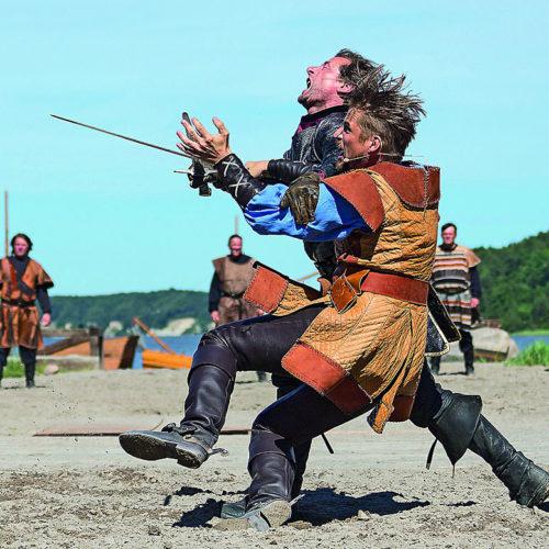 Kampf in der Vorführung der Störtebeker Festspiele in Ralswiek auf Rügen