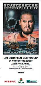 Flyer der Störtebeker Festspiele 2017 in Ralswiek auf Rügen