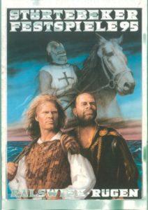 Plakat der Störtebeker Festspiele 1995 in Ralswiek auf Rügen