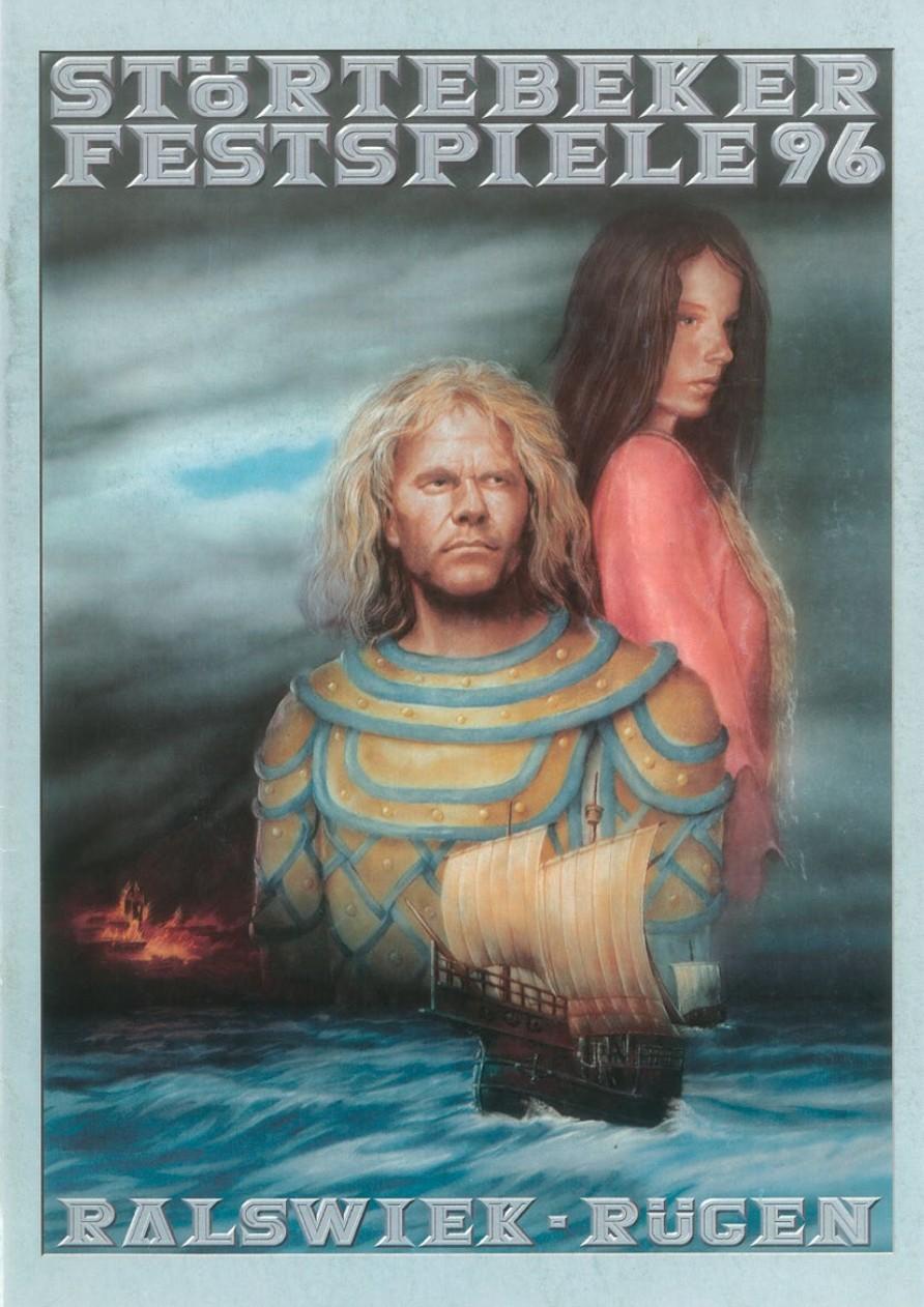 Plakat der Störtebeker Festspiele 1996 in Ralswiek auf Rügen