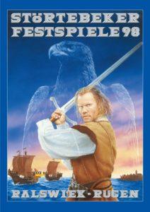Plakat der Störtebeker Festspiele 1998 in Ralswiek auf Rügen