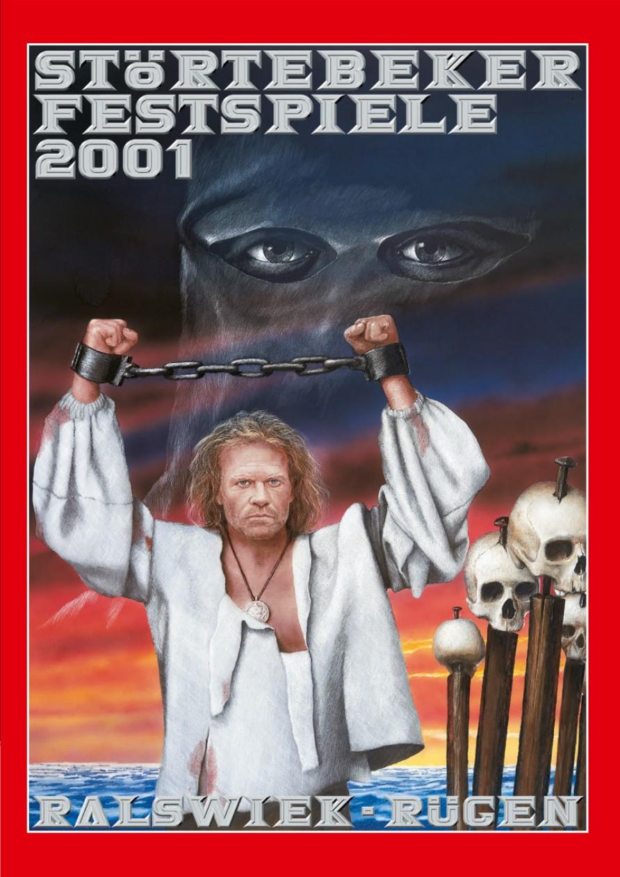 Plakat der Störtebeker Festspiele 2001 in Ralswiek auf Rügen