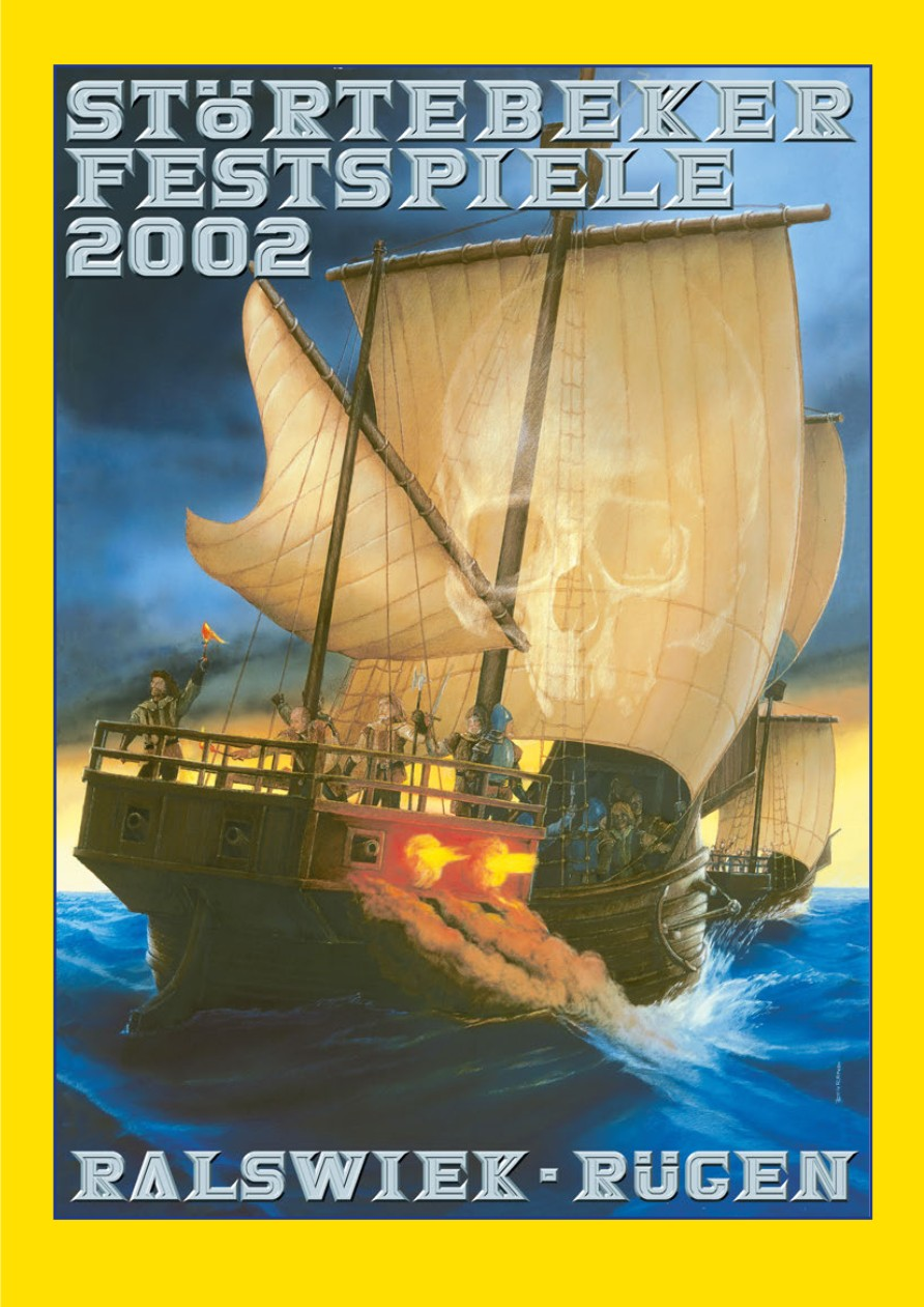 Plakat der Störtebeker Festspiele 2002 in Ralswiek auf Rügen