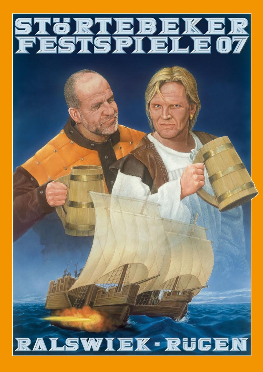 Plakat der Störtebeker Festspiele 2007 in Ralswiek auf Rügen